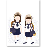"Art Print ""Tokyo elementary school girls""  | Cristina de Lera"