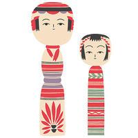 "Art Print ""Kokeshi""  | Cristina de Lera"