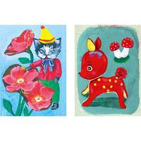 Small card set Animal   Nathalie Lété