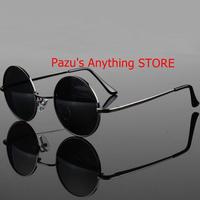 ショースタイル メガネ 偏光サングラス ヴィンテージサングラス ラウンドサングラス uv400 黒レンズ 1588