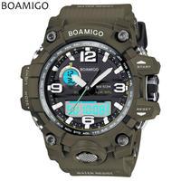 Boamigo ブランド 男性スポーツ腕時計 デュアルディスプレイ アナログデジタルLed電子クォーツ時計 防水 76
