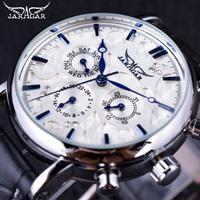 Jaragar エレガントなデザイン 本革ストラップ 男性腕時計 メンズ腕時計 トップブランドの高級時計