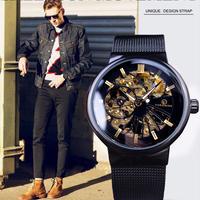 Forsining ダイヤル ユニセックスデザイン 防水腕時計 高級ブランド スケルトン腕時計 90