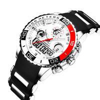 トップブランド メンズスポーツ腕時計 メンズクォーツアナログLedクロック 軍事 防水腕時計 114