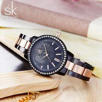 Shengke ローズゴールド腕時計 女性クォーツ時計 レディーストップブランド 女の子 158