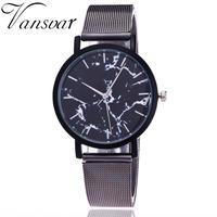 Vansvar ブランドファッション クリエイティブ大理石腕時計 カジュアル女性クォーツ腕時計 159