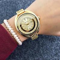 Contena 女性腕時計ローズゴールドブレスレット 高級ラインストーン レディース腕時計 197