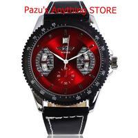 時計 男性 ビジネス腕時計 レザーストラップ機械式セルフ風腕時計 1742