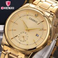 Chenxi ゴールド腕時計 ビジネスマン腕時計 防水 カジュアル 石英 ドレス時計 ギフト 88