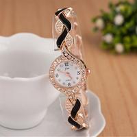 JW ブレスレット腕時計 女性高級クリスタルドレス腕時計 カジュアルクォーツ時計 161