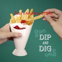 フレンチフライ キッチン レストラン ポテトツール 食器盛り合わせ 醤油 ケチャップ ジャム Dip 1517