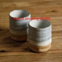 セラミック茶碗 日本カップ ミルクカップ レトロ 粗い陶器 コーヒーカップ 1521