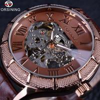Forsining スケルトン腕時計 透明 ローマ数字腕時計 高級ブランド 37