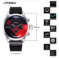 Sinobi クロノグラフスポーツ腕時計 トップブランド メンズ腕時計 104