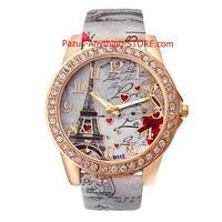 ヴィンテージ パリエッフェル塔 女性クォーツ腕時計 女の子 女性学生 カジュアル腕時計 1762 9/25