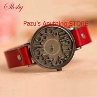 ヴィンテージ 牛革ストラップ腕時計 女性ドレス腕時計 女性クォーツ腕時計 学生 レジャー腕時計 1776
