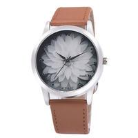 女性の腕時計ブレスレット ファッションフラワー革 アナログクォーツヴォーグ腕時計 170