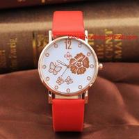 女の子 レディースカジュアル腕時計 美しいフルラインストーンウォッチ 花腕時計 蝶ドレス腕時計 1736 9/25
