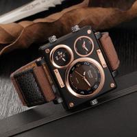 O.T.SEA puレザー腕時計 男性ミリタリースポーツクォーツ腕時計 59