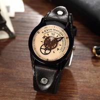 ヴィンテージ クリエイティブユニセックス腕時計 ギアダイヤル カップル時計 82