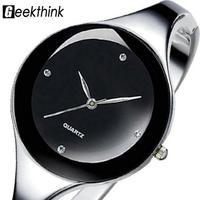 Relojes mujer ステンレス鋼腕時計 ブレスレットクォーツ時計 レディース腕時計 130