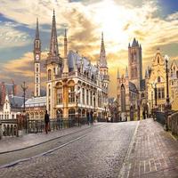 3D 壁画 ヨーロッパ市 ビルディング 風景 壁紙 リビングルーム カフェ 創造インテリア 539 7/17