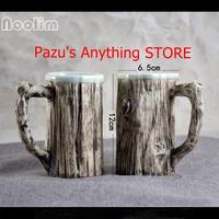 クリエイティブ 景徳鎮 セラミックコーヒーカップ 模造樹皮 1530
