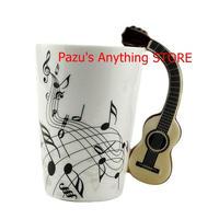 ギターセラミックカップ 音楽 レモンマグ コーヒーティーカップ ユニークなギフト 1513