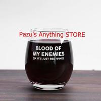 血液の敵 ワインガラス マグ 12オンスガラス コーヒーマグカップ ビール ワイン パーティー 贈り物 1497
