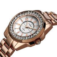 Sinobi 高級ドレスブランドファッション時計 レディースゴールドダイヤモンド ドレス時計 187