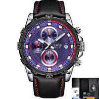 Lige 男性腕時計 スポーツ ファッションクォーツ時計 発光 防水時計 多機能 106
