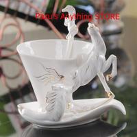 馬 エナメルコーヒーカップ 磁器 セラミック 欧州 贈り物 1538