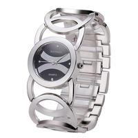 Baosaili サークルストラップステンレス鋼 女性ブレスレット腕時計 ファッション腕時計 163