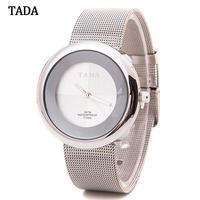 Tada ブランド ローズゴールド 防水 日本ゴールドメッシュスチールバンド腕時計 レディー腕時計 199