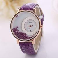 流砂ビーズ腕時計 ファッションクォーツ腕時計 レディース腕時計 ラインストーン 女性ブレスレット腕時計 165