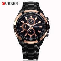 カレン男性腕時計 トップブランド ゴールドクォーツ時計 マンミリタリースポーツ時計 男性ファッション腕時計 113
