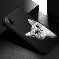 Iiozo つや消しマットケース iphone X 猫 スペースムーン ブーツ 猫男 パンダ 596 7/17