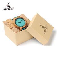 ボボ鳥 ストラップ木製腕時計 メンズ レディース クォーツ時計 ユニセックス 74