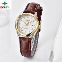 高級ブランド女性腕時計 ゴールドクォーツ腕時計 レディースファッションレザーカジュアル腕時計 185