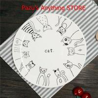 ディナープレート 漫画猫セラミックプレート 8インチ 食器磁器 トレイ パーティ プレート皿 フルーツ皿 1564
