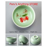 中国 茶カップ 磁器 青磁魚 ティーカップ スプーンセラミック セラミックカップ ギフト 1515