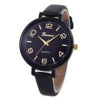 高級ブランド女性腕時計 ファッションカジュアルチェッカー フェイクレザークォーツアナログ女性腕時計 181
