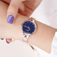 Kezzi ブランド ステンレス鋼腕時計 女性 クリスタルスターブレスレット腕時計 ドレス腕時計 126