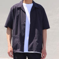 AUD SOLOTEX DRYサッカーギンガム オープンカラー ハーフスリーブシャツ