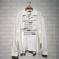 英字オープンカラーシャツ(全3カラー)