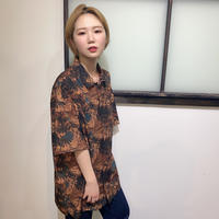 レトロプリントシャツ(全2カラー)