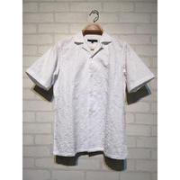 フラワー刺繍 開襟シャツ