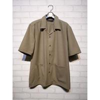 AUD リネンライクCANAPAオープンカラー ハーフスリーブシャツ