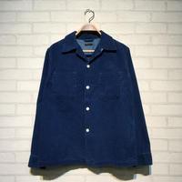 インディゴオープンカラーシャツ