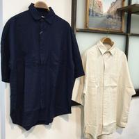 麻レーヨン BIG 半袖シャツ(全2カラー)